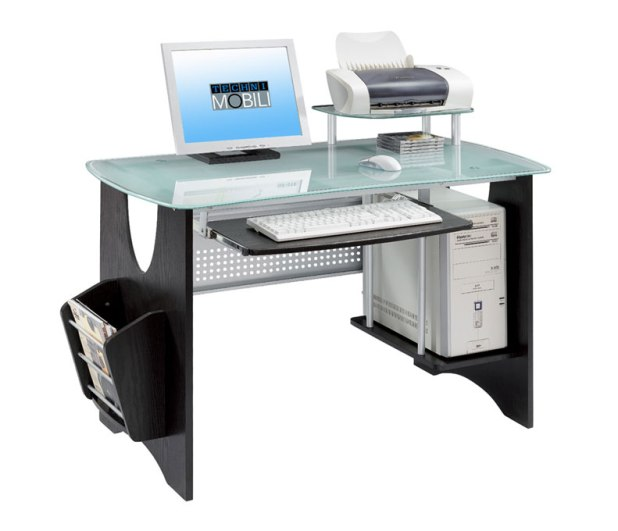 RT-3325-ES18 Why Glass Computer Desks Are The Trend of This Year?
