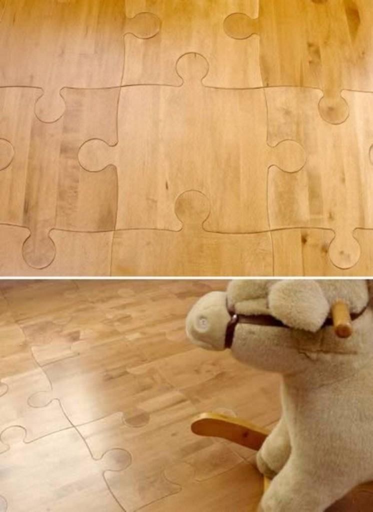 Hardwood Floor Puzzle Pieces Unique Designs