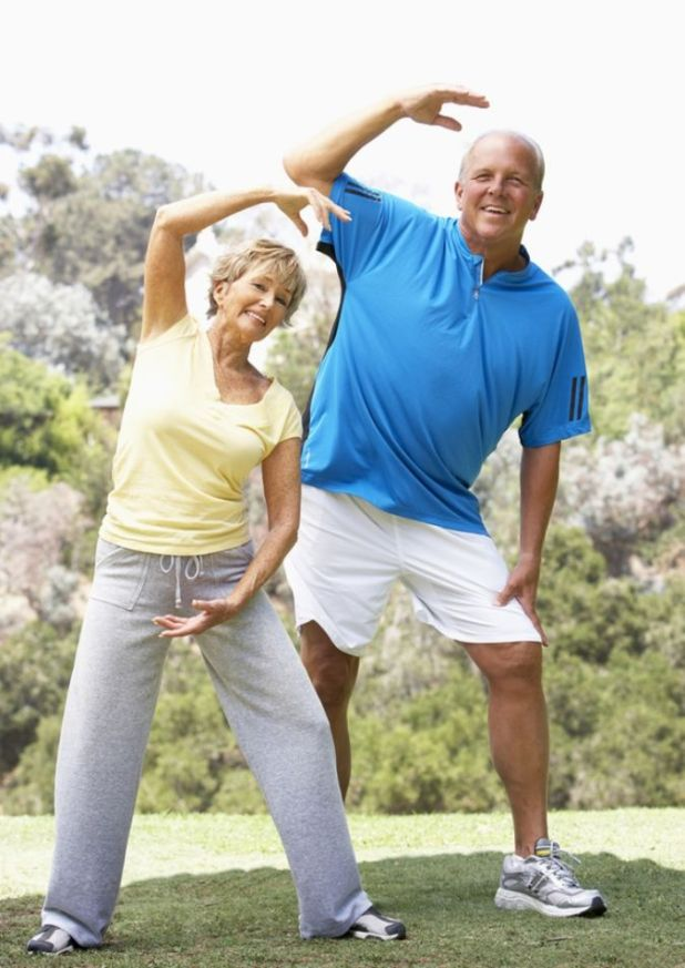 bigstock-Senior-Couple-Exercising How to Lose Weight at Age +40