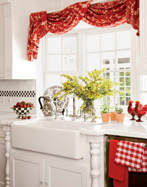 CountryKitchenCurtainsRed  Pouted Magazine