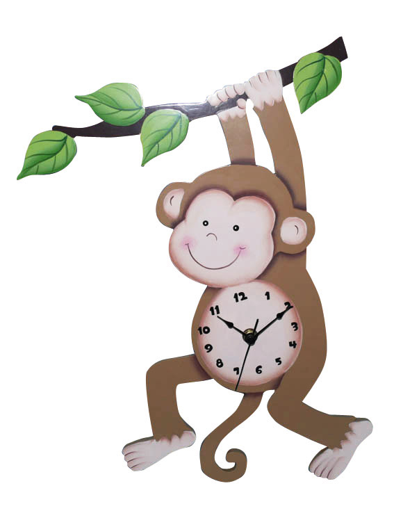 kids-furniture-Sunny-Safari-Wall-Clock 15 Amazing Wall Clocks Will Be Pieces Of Art In Your Home