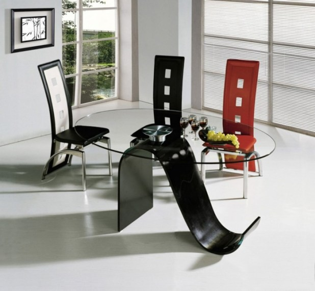 Contemporary-Dining-Set-Design-Glass-Top-Table-Modern-Dining-Table-and-Chair-Sets 45 Most Stylish and Contemporary Dining rooms