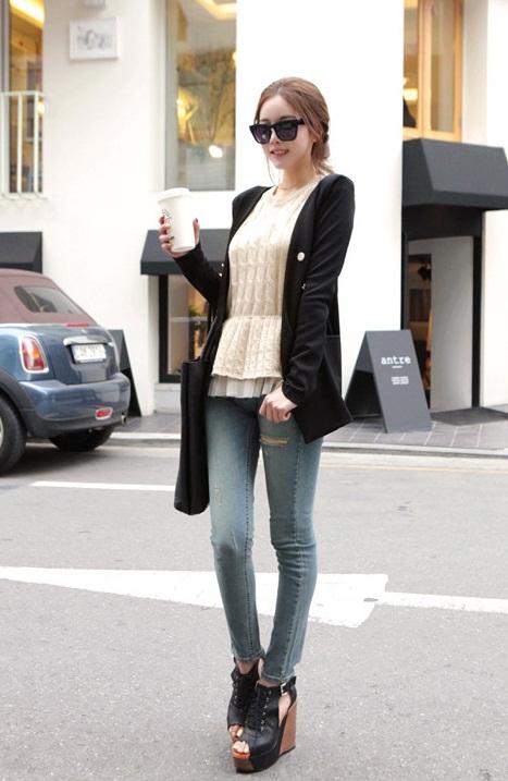 Korean-Fashion-Skinny-Jeans-2013-For-Girls Most Stylish +20 Teenage Girls Fashion Trends