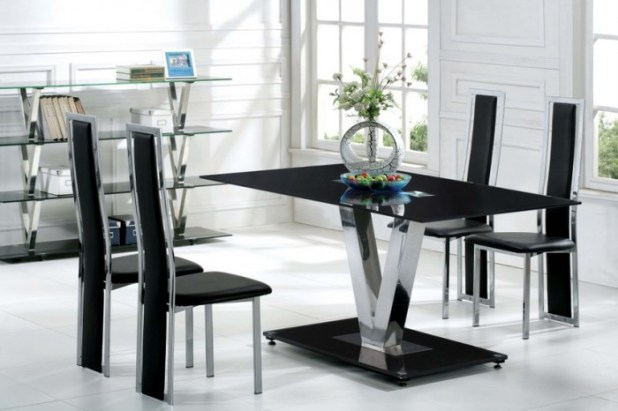 Marvelous-Contemporary-Dining-Room-Furniture-Ideas-White-Black-Chair-Design 45 Most Stylish and Contemporary Dining rooms