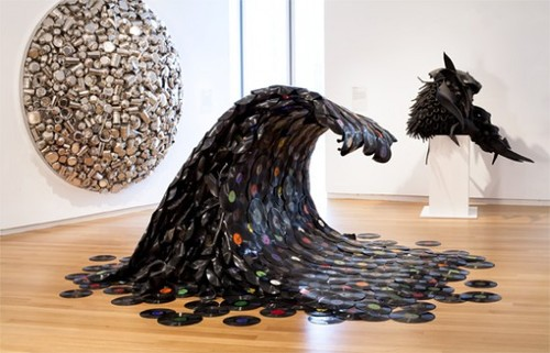 Recycled-record-art 12 Impressive Art Works Made From Recycled Materials