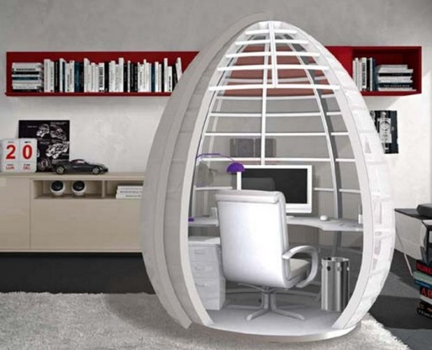 stylish-mobile-home-pod-as-office-space-3 Modern And Stylish Designs Of Home Offices