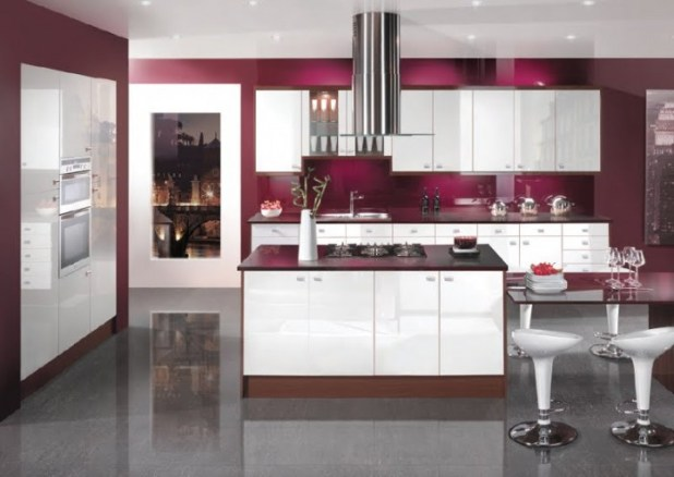 white-modern-kitchens 45 Elegant Cabinets For Remodeling Your Kitchen