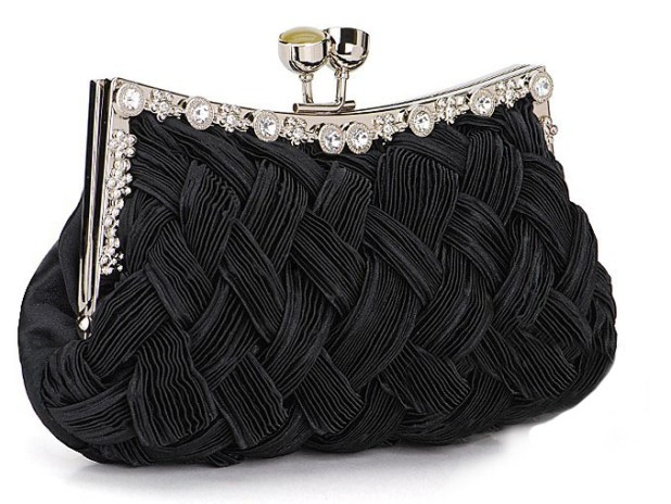 2254BKBraided-Evening-Clutch-Purse-Black 50 Fabulous & Elegant Evening Handbags and Purses