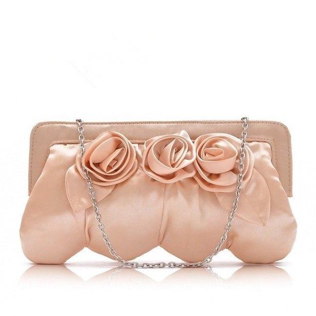 HB035-Vintage-Champagne-Flower-font-b-Satin-b-font-font-b-Purse-b-font-Clutch-Chains 50 Fabulous & Elegant Evening Handbags and Purses
