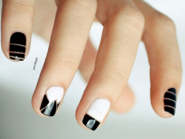 04-nail-art-new-years-black-white_0 What Are the Latest Beauty Trends for 2014?