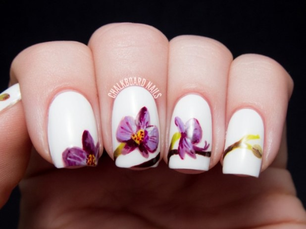 pantone-radiant-orchid-nail-art-4 What Are the Latest Beauty Trends for 2014?