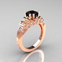 50 Non-Traditional Black Diamond Rose Gold Engagement ...