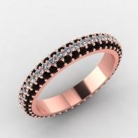 Rose Gold Rings: Rose Gold Rings Black Diamonds