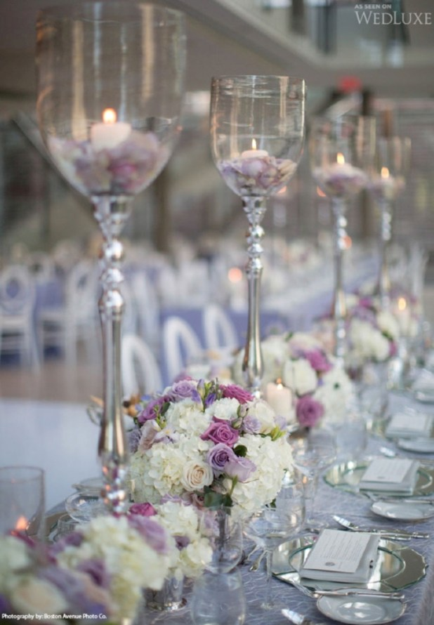 2014-Silver-Lavender-wedding-centerpiece 25 Breathtaking Wedding Centerpieces in 2016
