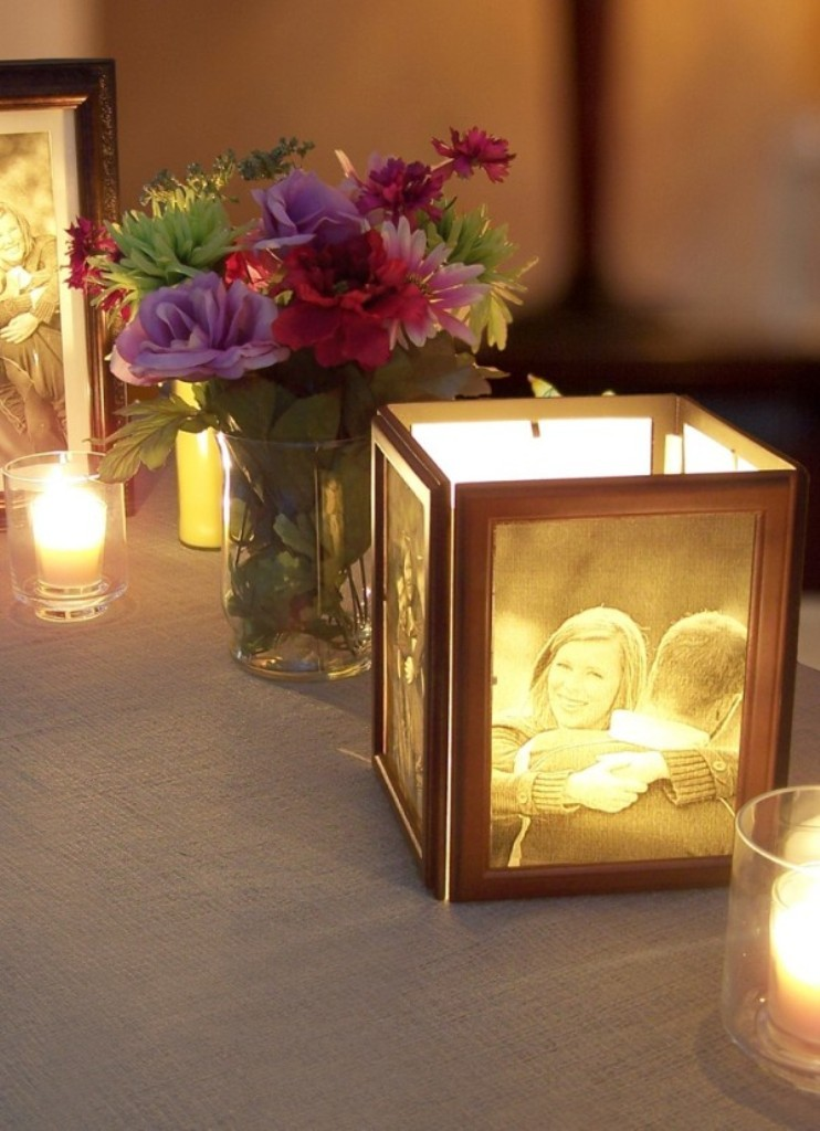 beach wedding centerpiece with candle
