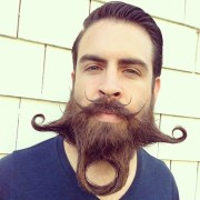 crazy and bizarre beard