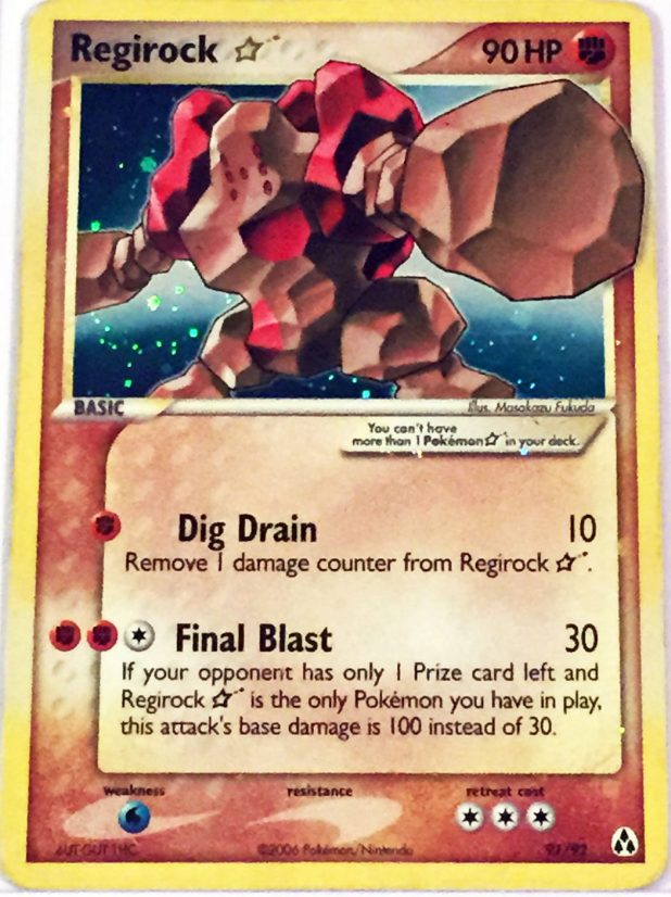 Regirock-Gold-Star-Legend-Makers-Set-Holo Top 10 World's Most Expensive Pokémon Cards 2015