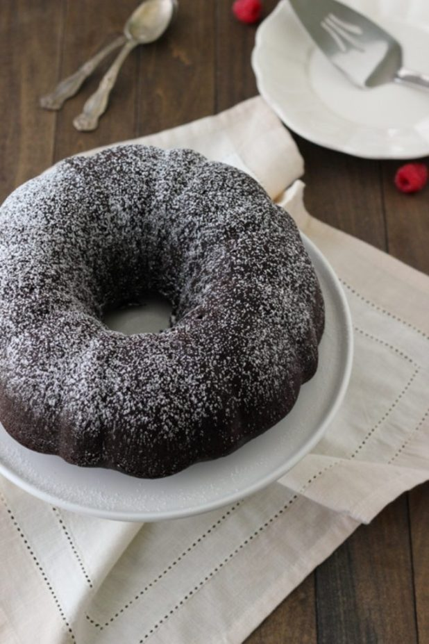 Chocolate-Truffle-Sour-Cream-Bundt-Cake-13 Easiest Chocolate Cake Recipe That Will Impress You ...