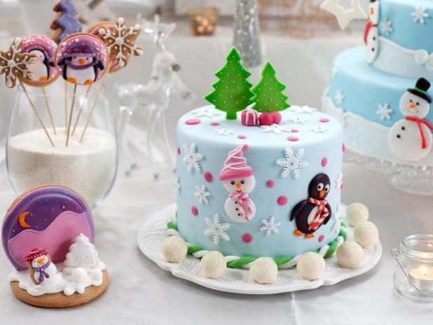 Christmas-Cake-Decoration-Ideas-2017-81 82 Mouthwatering Christmas Cake Decoration Ideas 2017