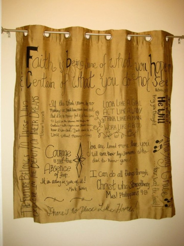 Favorite-Quotes-Curtain2 Easy And Creative Curtains Designs To DIY