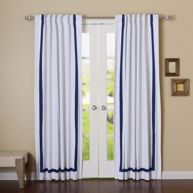 Ribbon-Glued-Curtain3 Easy And Creative Curtains Designs To DIY