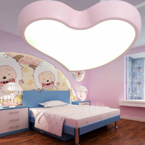 LED-shaped-light-675x675 20+ Ceiling Lamp Ideas for Kids' Rooms in 2017