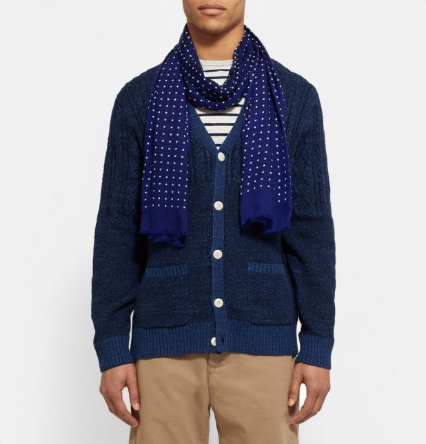 Polka-Dot-Cashmere-Scarf4 22 Scarf Trend Forecast for Fall & Winter 2017