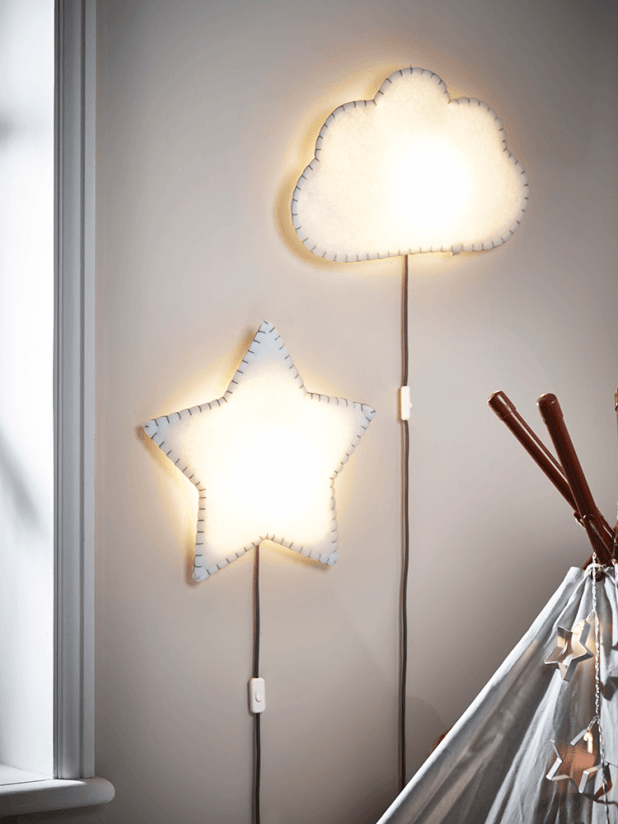 cloud-and-star-light-675x900 20+ Ceiling Lamp Ideas for Kids' Rooms in 2017