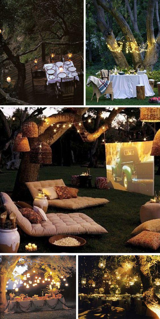 A-Backyard-Movie4 10 Best Ideas For Outdoor Weddings in 2017