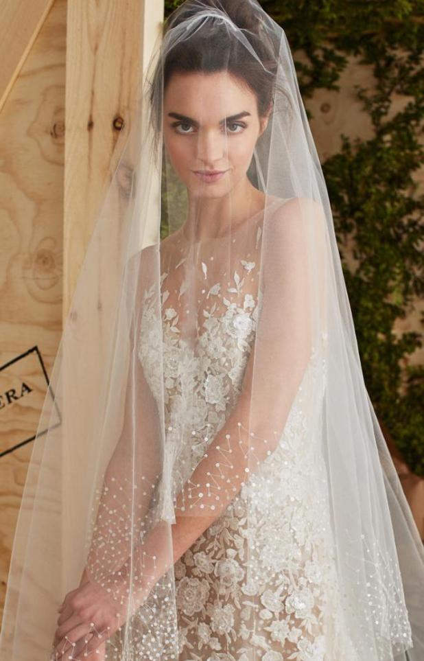 Carolina-Herera-veil 2017 Wedding dresses Trends for a Gorgeous-looking Bride