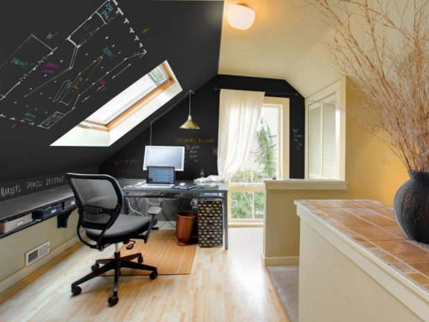 Chalkboard-Walls2 8 Office Decoration Designs For 2017