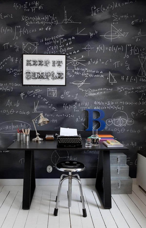 Chalkboard-Walls3 8 Office Decoration Designs For 2017