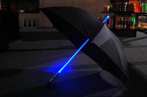Light-Saber-Umbrella1 15 Unusual Designs For Umbrellas