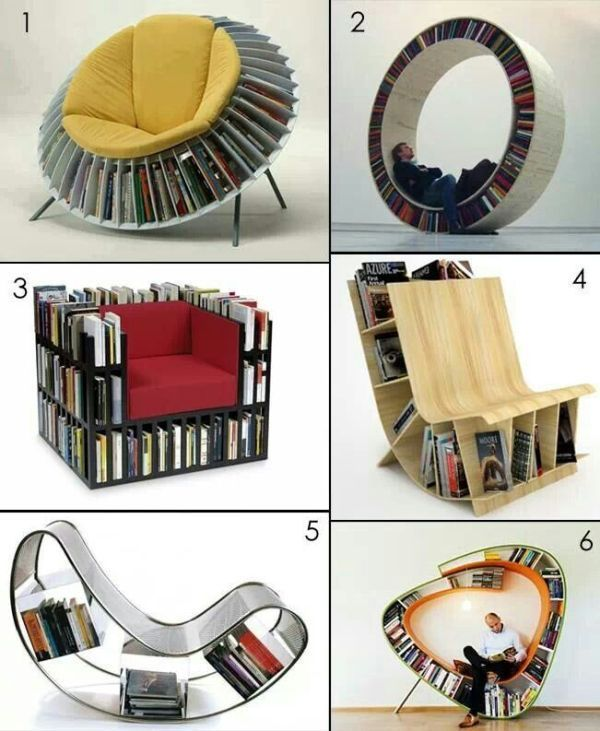 chairs-bookshelves 83 Creative & Smart Space-Saving Furniture Design Ideas in 2017