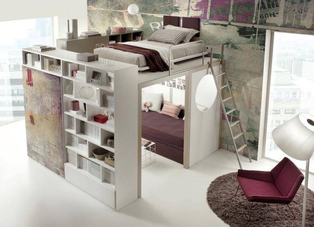 space-saving-bedroom 83 Creative & Smart Space-Saving Furniture Design Ideas in 2017