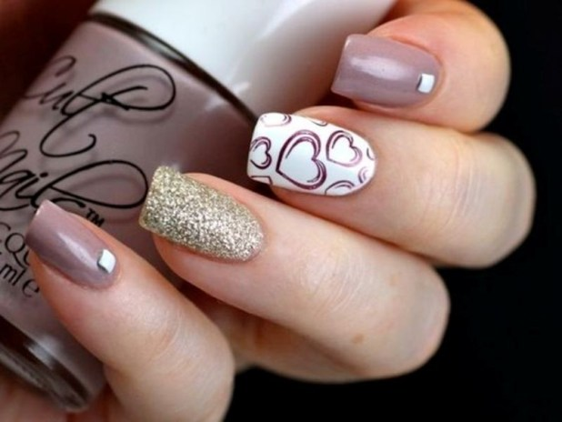 Valentines-Day-Nails-2017-102 50+ Lovely Valentine's Day Nail Art Ideas 2017