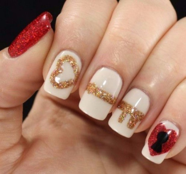 Valentines-Day-Nails-2017-106 50+ Lovely Valentine's Day Nail Art Ideas 2017