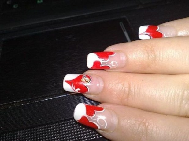 Valentines-Day-Nails-2017-108 50+ Lovely Valentine's Day Nail Art Ideas 2017