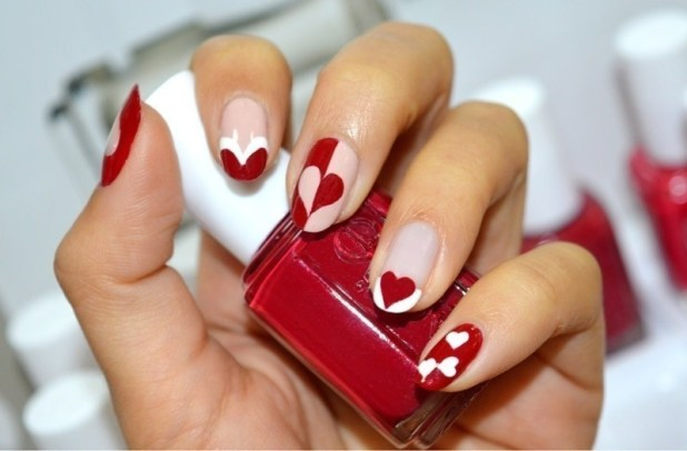 Valentines-Day-Nails-2017-110 50+ Lovely Valentine's Day Nail Art Ideas 2017