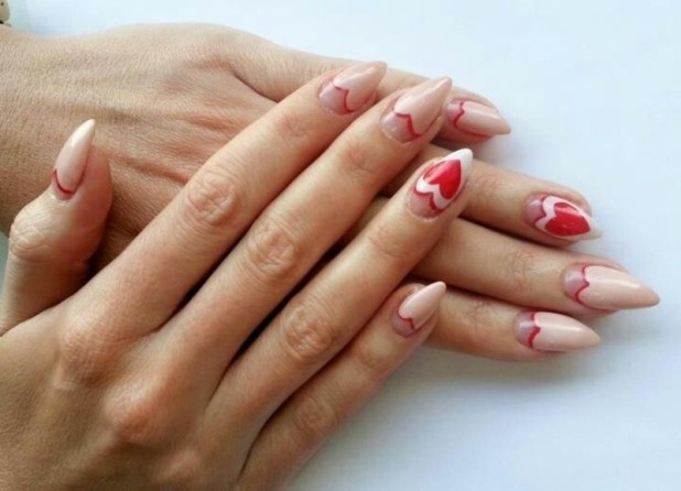Valentines-Day-Nails-2017-114 50+ Lovely Valentine's Day Nail Art Ideas 2017