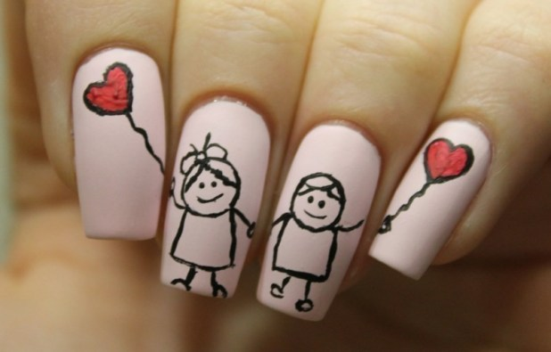 Valentines-Day-Nails-2017-115 50+ Lovely Valentine's Day Nail Art Ideas 2017