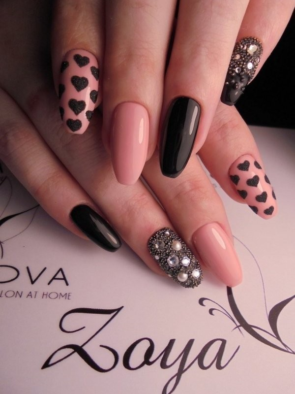 Valentines-Day-Nails-2017-21 50+ Lovely Valentine's Day Nail Art Ideas 2017