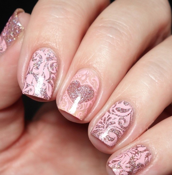 Valentines-Day-Nails-2017-31 50+ Lovely Valentine's Day Nail Art Ideas 2017