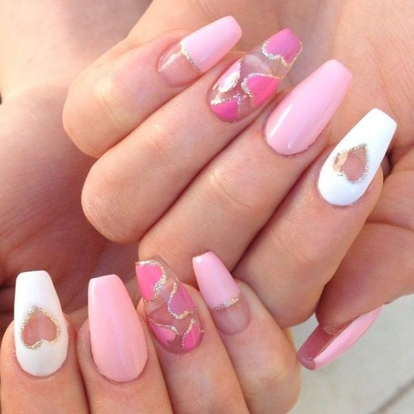 Valentines-Day-Nails-2017-41 50+ Lovely Valentine's Day Nail Art Ideas 2017