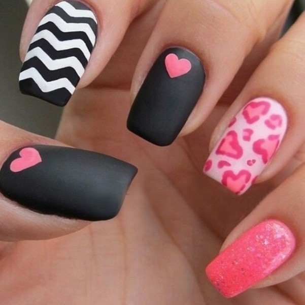 Valentines-Day-Nails-2017-47 50+ Lovely Valentine's Day Nail Art Ideas 2017