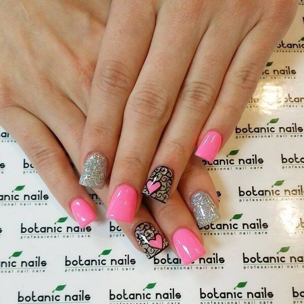 Valentines-Day-Nails-2017-53 50+ Lovely Valentine's Day Nail Art Ideas 2017