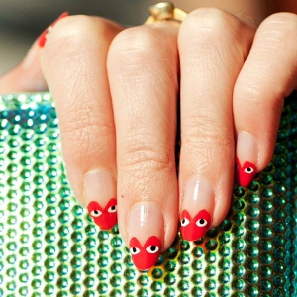 Valentines-Day-Nails-2017-78 50+ Lovely Valentine's Day Nail Art Ideas 2017