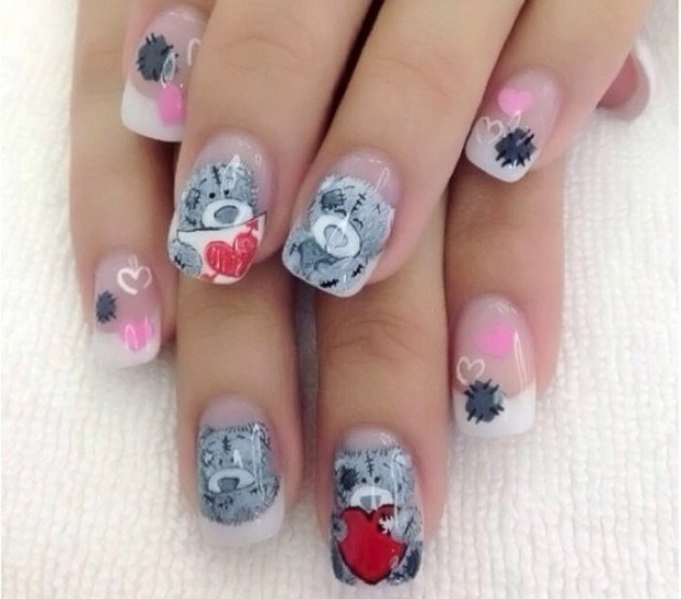 Valentines-Day-Nails-2017-96 50+ Lovely Valentine's Day Nail Art Ideas 2017