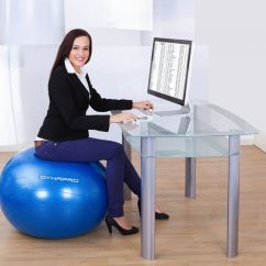 Office Ball Chair Benefits Brown Leather Executive Of Using Yoga For Your Home Or