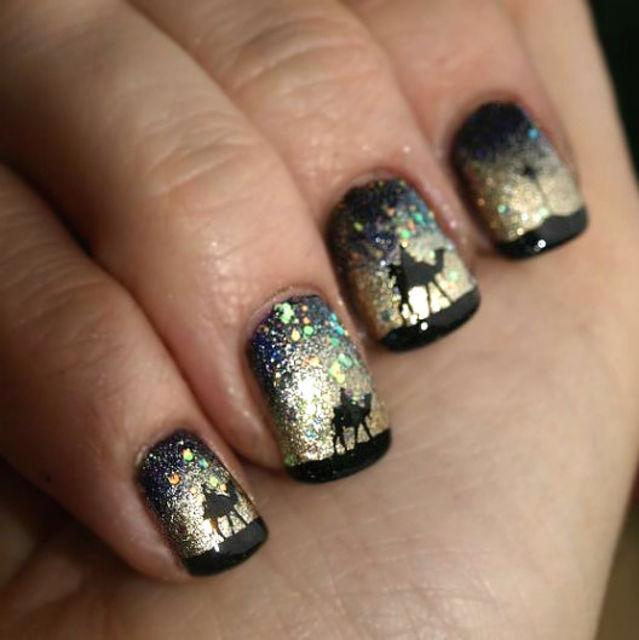 top 7 christmas winter nail design